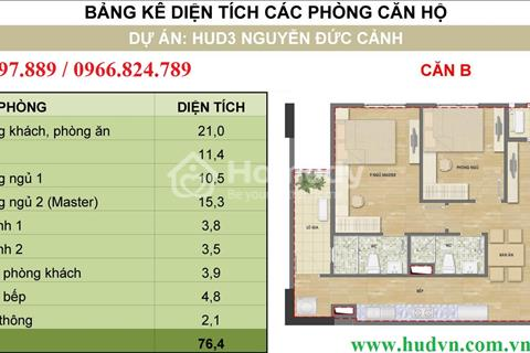 Chính chủ bán gấp căn 04 tầng 12 tòa H2, chung cư HUD3 Nguyễn Đức Cảnh
