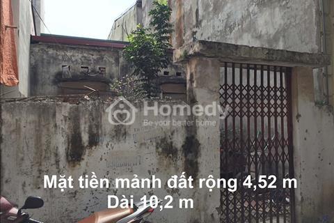 Bán mảnh đất vuông 46m2 ngõ 604 Ngọc Thụy, mặt tiền 4.5 m, ngõ ô tô 4m, giá 48 triệu/m2