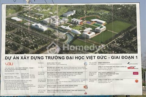 Chính chủ bán gấp 300m2 mặt tiền trường đại học Việt Đức đang xây 990 triệu/nền kinh doanh ngay