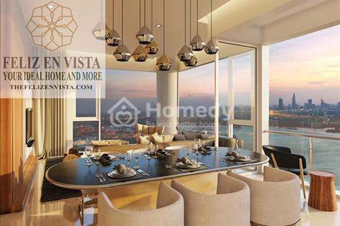 Bán căn hộ 4 phòng ngủ, 240m2 dự án Feliz En Vista, Capitaland, tầng cao, view sông, giá 12.5 tỷ