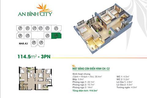 Chung cư bán cắt lỗ chung cư An Bình City căn 1602, 14m2 và 1604, 89,6m2 tòa A8, giá 26 triệu/m2