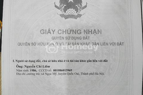Cần tiền bán gấp thửa đất xã Cấn Hữu (C10 thuộc khu đấu giá DG17) huyện Quốc Oai