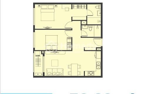 Bán gấp, Sunrise Novaland căn 2 phòng ngủ, 76m2 nhận nhà tháng 11/2018 giá hợp đồng