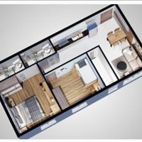 Chuyển nhượng nhanh 3 căn hộ Felisa Riverside, căn 2 phòng ngủ, ngay tầng 5, trung tâm Quận 8