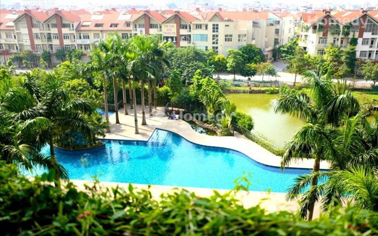 Cho thuê chung cư Mulberry Lane - Mỗ Lao, 120m2, 3 phòng ngủ, đồ cơ bản, view bao trọn bể bơi