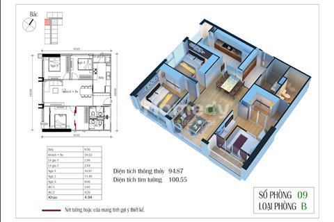 Chính chủ bán căn góc 95m2 chung cư Eco Green 3 ngủ, chấp nhận cắt lỗ 100 triệu