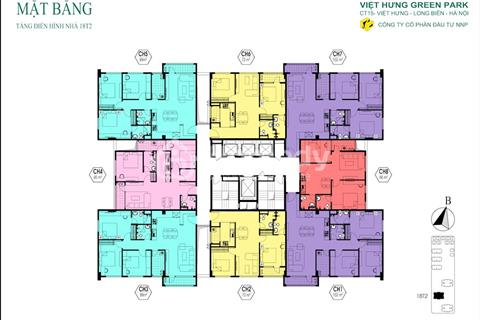 Cần bán căn hộ 100m2 tòa T2 dự án Việt Hưng Green Park