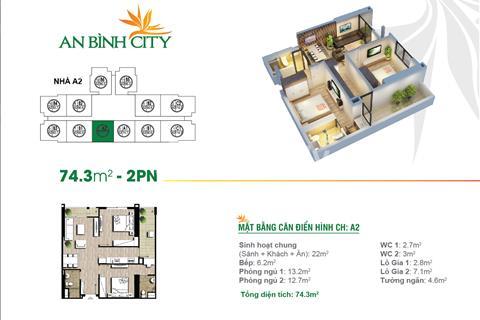 Cắt lỗ 100 triệu 1 trong 2 căn 2 phòng ngủ, tầng đẹp chung cư cao cấp An Bình City