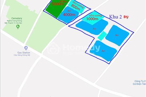 Bán gấp đất trang trại 49 năm huyện Thanh Trì, có sẵn nhà xưởng 1000m2 giá 8 tỷ