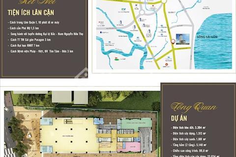 Chỉ 1,85 tỷ sở hữu căn hộ cao cấp 95m2 Saigon Plaza, view sông Sài Gòn thoáng mát, full nội thất