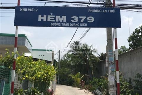 Bán 2 nền liền kề hẻm 379 đường Trần Quang Diệu, An Thới quận Bình Thủy giá 390 triệu/nền