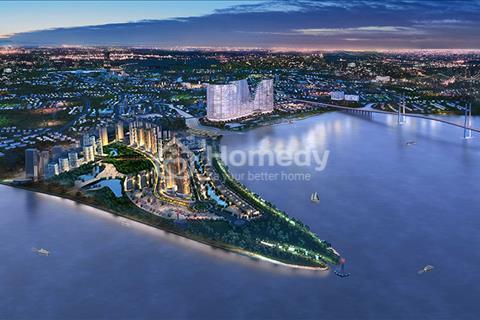 Căn thương mại mặt tiền sông, mặt tiền đường 40m, trong chung cư 7000 dân