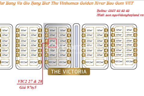 Biệt thự Victoria quận 1 chỉ 29 tỷ sở hữu ngay, cam kết tiền thuê lại biệt thự từ 5 - 11 tỷ/năm