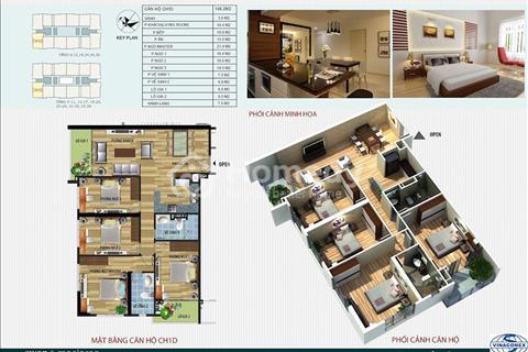 Gia đình tôi cần bán gấp căn góc 148m2 giá 30 triệu/m2 chung cư CT4 Vimeco Nguyễn Chánh
