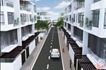 Các dãy nhà liền kề có thiết kế hiện đại với đường nội bộ rộng mang đến lựa chọn an cư tiện nghi cho dân cư.