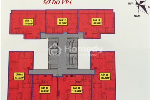Bán căn hộ 2312 tòa VP4 Bán đảo Linh Đàm, 2 phòng ngủ full nội thất