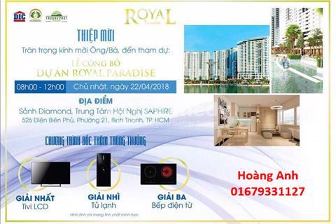 13 suất nội bộ căn hộ cao cấp Royal Paradise Vũng Tàu, căn hộ đang hot nhất Vũng Tàu