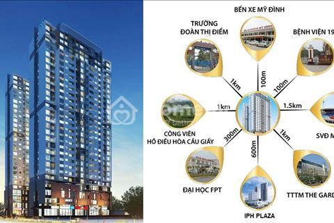 Bán căn hộ Mỹ Đình Plaza 2, bàn giao 5/2018, giá 30 triệu/m2 (VAT, nội thất), chiết khấu 100 triệu