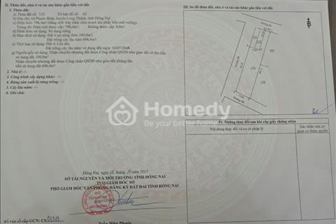 Cần bán gấp đất chính chủ ở Long Thành, thổ cư, sổ hồng riêng giá 1 tỷ 600 triệu/800m2