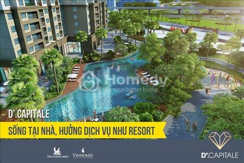 Bán căn hộ 2 phòng ngủ, ban công view hồ trực diện tòa C1 dự án Vinhomes D'Capitale Trần Duy Hưng