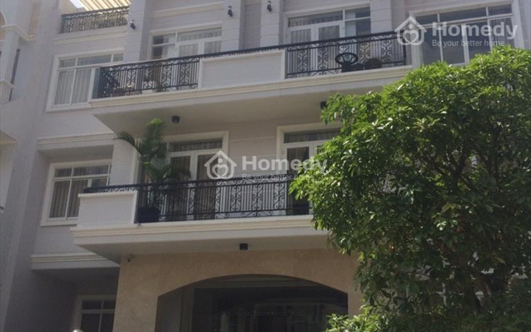 Cho thuê nhà góc khu Him Lam Kênh Tẻ, 12.5x20m, hầm, 4 lầu, 700m2 xây dựng, giá thỏa thuận