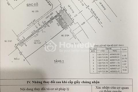 Cần bán căn nhà cấp 4 mặt tiền 15m, kinh doanh tại Hiệp Bình Phước, diện tích 6x24.5m
