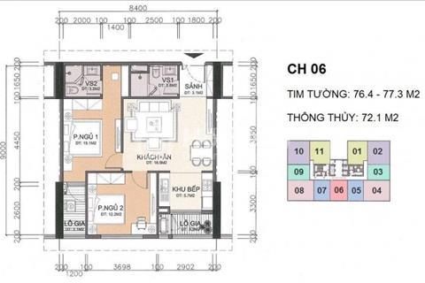 Bán căn hộ 72m2 chính chủ, chung cư A10 Nam Trung Yên, ban công đông nam