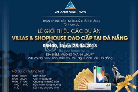 Đất Xanh mở bán Shophouse cao cấp và block B2-15 khu đô thị sinh thái Phú Mỹ An (Đà Nẵng Pearl)