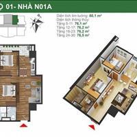 Mở bán căn 08, tầng 15, suất ngoại giao chung cư K35 Tân Mai, 77m2, giá 25 triệu/m2