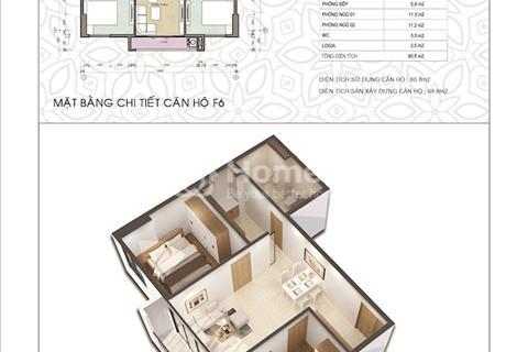 Bán căn hộ 65m2 đẹp nhất chung cư C1 Thành Công, Ba Đình, giá chủ đầu tư, không chênh