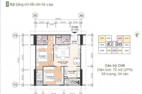 Bán căn 72,1m2 tầng 8 tòa CT2 chung cư A10 Nam Trung Yên