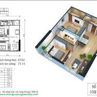Cần bán căn hộ Eco Green, diện tích 67m2 tòa CT3 giá 1 tỷ 750 triệu tầng 16