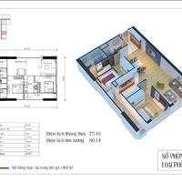 Chính chủ bán căn 75m2, giá 1,8 tỷ tòa CT1 chung cư Eco Green City Nguyễn Xiển
