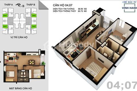 Bán lại căn hộ 02 phòng ngủ tại Tứ Hiệp Plaza gần bệnh viện Nội tiết Trung ương