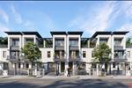 Thiết kế nhà liền kề hiện đại với không gian thông thoáng cùng các mảng cây xanh mát sẽ mang đến lựa chọn lý tưởng cho cư dân.