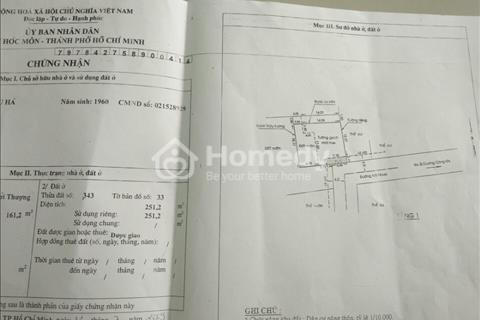 Tôi chính chủ cần bán gấp nhà xưởng Hóc Môn mặt tiền đường Nguyễn Văn Bứa, 1451m2
