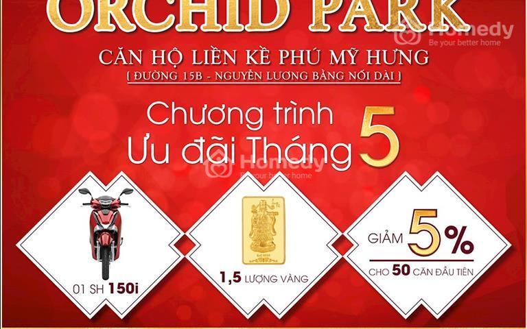 Tặng Xe SH, Vàng SJC -Chiết khấu khủng 5% cho 50 suất đầu - Khi mua CH Orchid Park Phú Mỹ Hưng