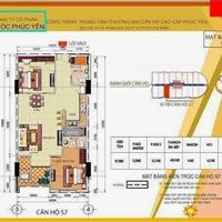 Bán căn 2 phòng ngủ, chung cư Phúc Yên 2, diện tích 87,8m2
