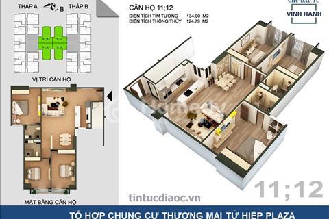 Sở hữu ngay căn hộ 124m2 Tứ Hiệp Plaza, nhận chiết khấu 115 triệu và miễn phí 5 năm phí dịch vụ