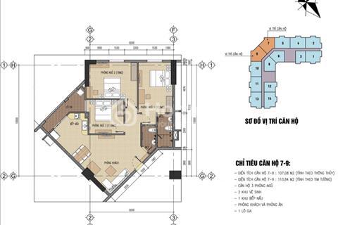 Bán căn 3 phòng ngủ, 107,08m2, B32 Đại Mỗ, giá 14,5 triệu/m2