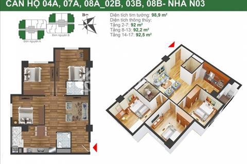 Cần bán căn góc 3 phòng ngủ, chung cư quân đội K35 Tân Mai – 23,5 triệu/m2