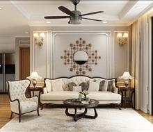 Phòng khách chung cư Goldmark phong cách tân cổ điển