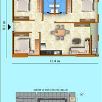 Căn hộ 3 phòng ngủ, diện tích 92m2, view xéo biển cực đẹp, Sơn Thịnh 3