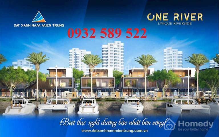 Mở bán dự án One River Villas - Đà Nẵng Pearl biệt thự 300m2, sở hữu 2 mặt tiền view sông kề biển