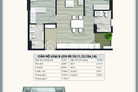 Chính chủ cần bán gấp căn B10, diện tích 75,9m2, giá 2 tỷ, chung cư Ecolife Capitol