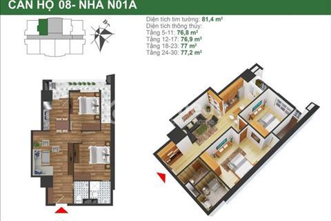 Chính chủ bán gấp căn 1508, N01A, 77m2, giá gốc 21,4 triệu/m2, chênh hơn 200 triệu rẻ nhất dự án