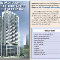 Bán căn hộ 3 ngủ tầng đẹp 126m2 tại Petrowaco 97-99 Láng Hạ