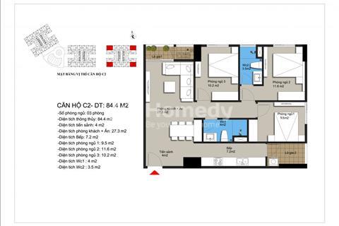 Bán căn hộ 2 phòng ngủ full nội thất khu vực Mỹ Đình