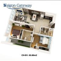 Cần tiền bán gấp căn hộ đang xây ngay mặt tiền xa lộ Hà Nội - Saigon Gateway - đã xây lên tầng 12