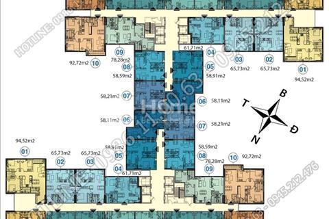 Nhanh tay đặt chỗ căn đẹp tầng 10, 12, 15 dự án Hà Nội Homeland cách Hoàn Kiếm 5km, chỉ từ 19tr/m2